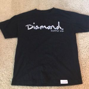 Black Diamond tee with logo.